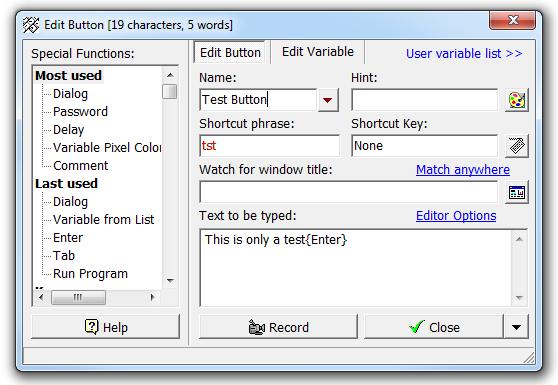 Shortcut Phrase 1